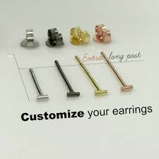 post earrings tiny bar stud earrings thick
