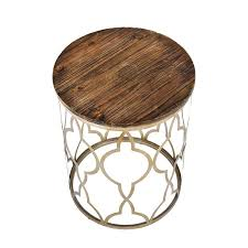 Gold Accent Table Classico Side Tables Gray Gold With Distressed Wood Top