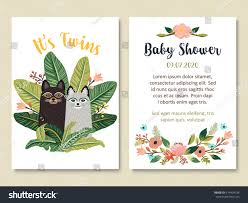 baby shower invitation card design cute stock vector 574494736