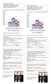 worksheet ode to my family