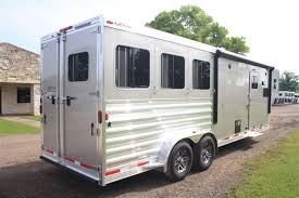 Cargo Trailer Awning 2017 Exiss Trailers 3 Horse 10 U00276