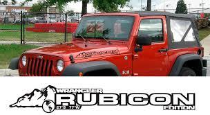 product 2 jeep rubicon wrangler cj tj yk jk xj vinyl sticker decal