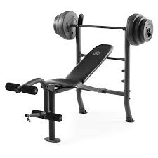 weight and bench set gold s gym xr 8 1 combo weight bench with 100 lb vinyl weight set