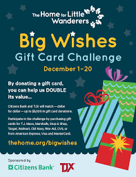 big wishes gift drive the home for little wanderers