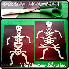 cursive skeletons u2013 the amateur librarian
