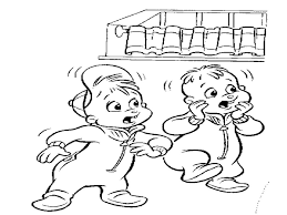 alvin chipmunks coloring cartoon coloring pages