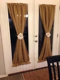 kitchen door curtain ideas diy burlap curtains love these um jennifer when can you make