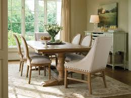 vintage dining room furniture ideas with double pedestal farmhouse