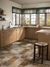 kitchen dark cabinets light granite plus white ceramic flooring