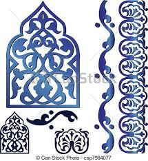islamic ornaments vector of islamic ornaments vectors