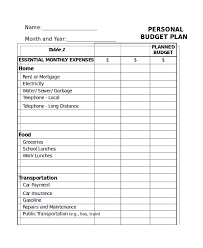personal budget template excel personal budget template have an