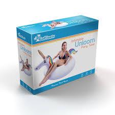 amazon com gofloats unicorn party tube inflatable float sports