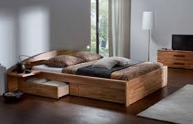 Platform Bed Drawers Solid Wood Platform Bed With Drawers Including King Size Frame