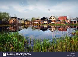 Landscape With Houses by A Small Village With Houses And Cottages In Nagin Lake Srinagar