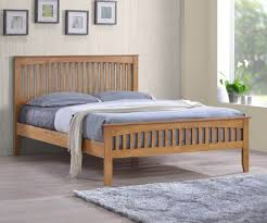 Oak Bed Frame Sareer Sandhurst Sandhurst Oak Bed Frame Bedsdirectuk Net