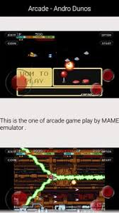 mame emulator apk guide for andro dunos apk free arcade for android