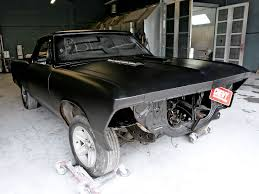 1966 el camino chevy el camino rat rod flat black paint job chevy high