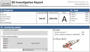 Problem Solving Template Excel 8d Tool Management Tools