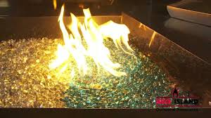 how to make a fire glass pit outdoor fire pits fire glass and fire rings at bbq island youtube