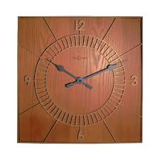 wall clock wood square nextime