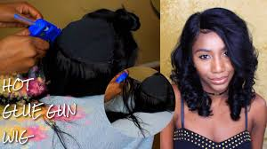 tutorial for black bonded weave hairstyles lace frontal hot glue gun wig quick weave tutorial pt1 gem