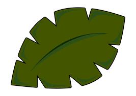 rainforest leaf clipart clipartxtras