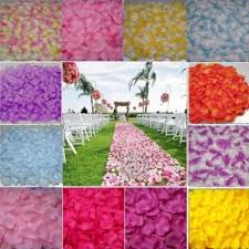 Rose Petal Table Cloth 5000x Silk Rose Petal Red White Gold Sky Blue Purple Pink Yellow