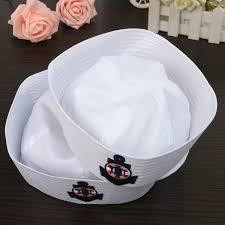 sailors navy hat cap with anchor emblem marine costume party kids