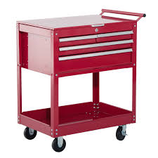 Rolling Tool Cabinets Aosom Homcom 4 Drawer Top Storage Rolling Tool Chest Cart Tool