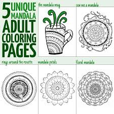 cool mandala coloring pages for adults moms and crafters