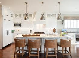 Clear Glass Pendant Lights For Kitchen Island Furniture White Wooden Kitchen Island With Black Granite Top On
