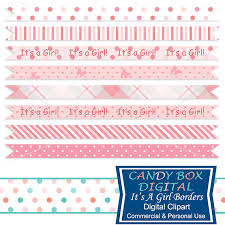 baby ribbon baby girl ribbon border clipart baby border clip