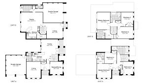 100 duplex floor plans with double garage 4 bedroom duplex