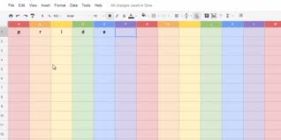 Google Doc Spreadsheet These Google Doc Spreadsheets Have Lgbt Pride And It Is Perfect