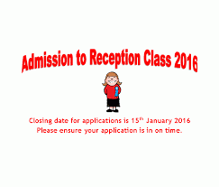 closing date for applications for reception class september 2016