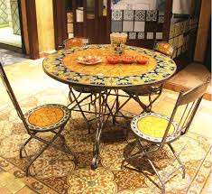 mexico style garden table and chairs outdoor wrought iron and