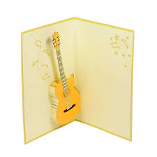 classic guitar pop up card birthday 3d cards charm pop