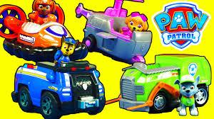 paw patrol rocky u0027s recycling truck zuma u0027s hovercraft chase