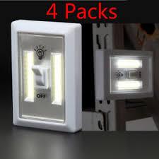 cob led wireless night light with switch 4 x pack led night light kasonic 200 lumen cordless cob led wall