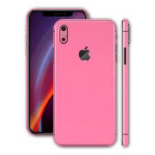 Iphone X Iphone X Glossy Pink Skin Wrap Decal Easyskinz