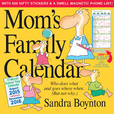 amazon black friday movie deals schedule mom u0027s family wall calendar 2016 sandra boynton 9780761183273