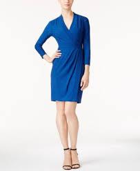 anne klein faux wrap dress dresses women macy u0027s