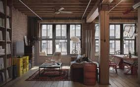 use of loft style in the interior decor around the world