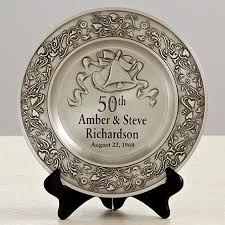 25th anniversary plates anniversary pewter plate