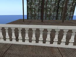 second life marketplace white venetian marble railing section