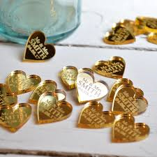 50 personalised heart wedding table centerpiece decorations
