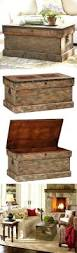 wooden trunk trunk pottery barn coffee rustic wood chest table furniture plans