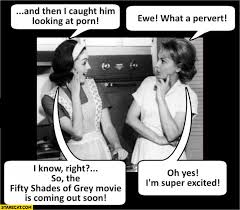 50 Shades Of Gray Meme - caught him looking at porn what a pervert fifty shades of grey movie