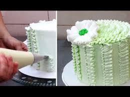 buttercream ruffle cake decoration how to by cakesstepbystep