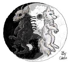 draw it again yin and yang wolves by celeniathefox on deviantart